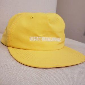 Yellow Obey Worldwide Cap